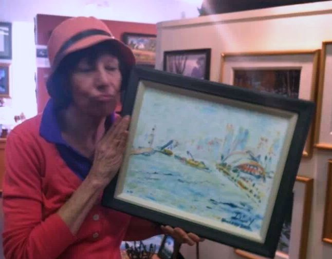 I love the frame on my plein air painting of the harbor at Qingdao.