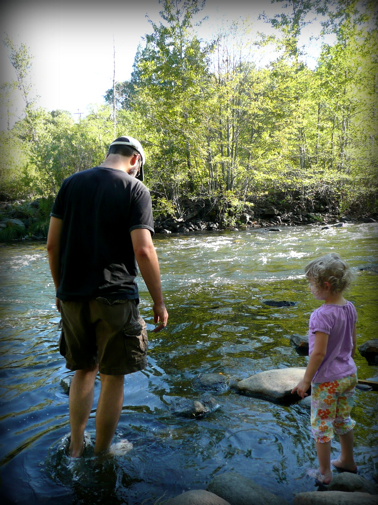 James and Maddie at the River