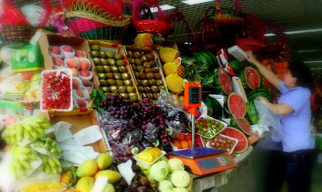 mountain of fruit