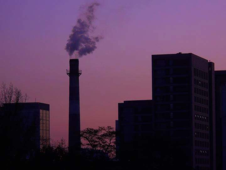 smokestack dawn