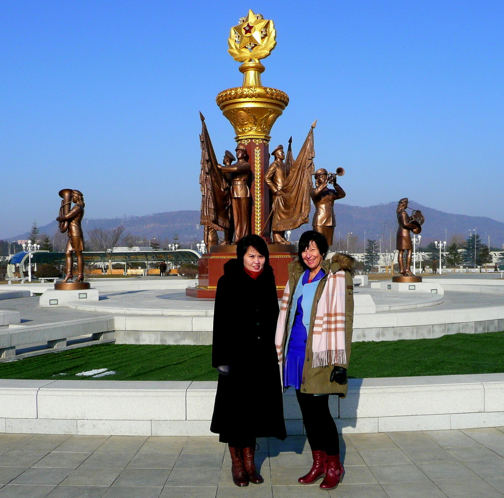 At the Kumsusan Memorial Palace of the Sun