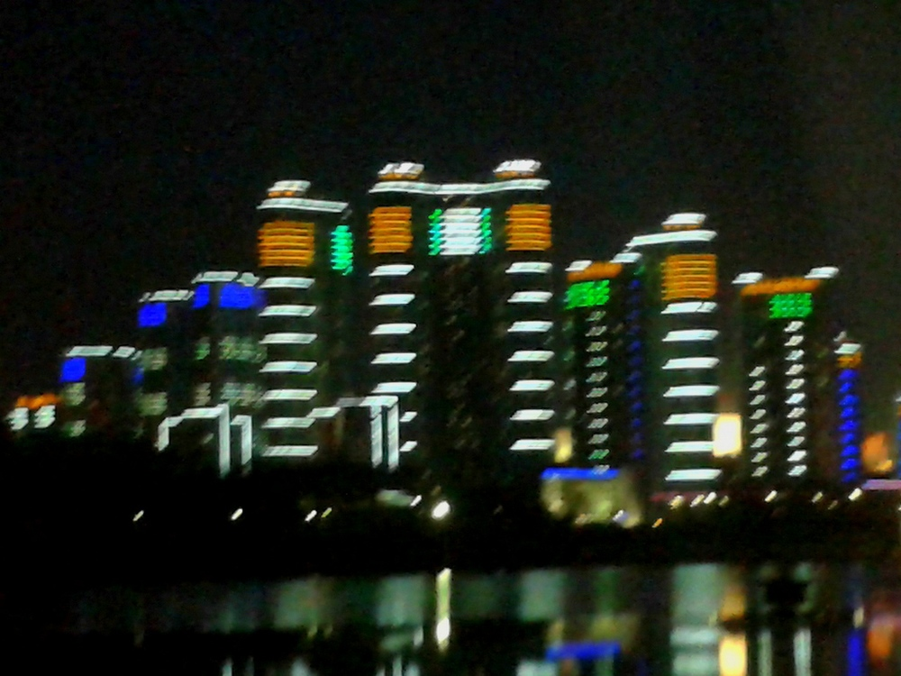 Night view on Dadong River