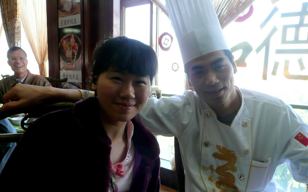 Our hostess and dim sum chef
