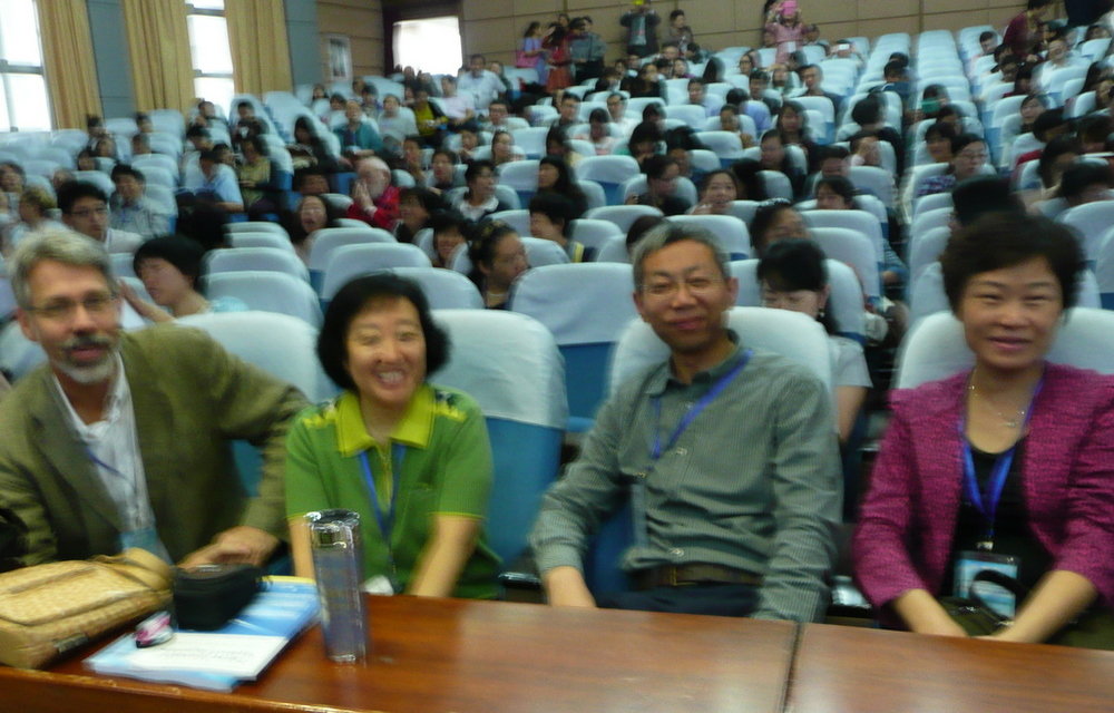 Steve Kulich from Shanghai International Studies University and other board members and organizers