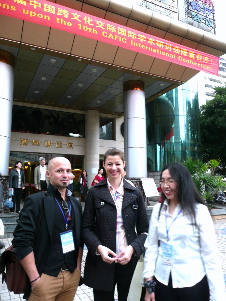 Thomas from Austria, Stephanie from Singapore and Lanping from Shanghai