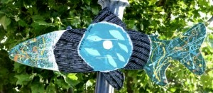 Missing!  If you see this Modern Art Fish, please return to Cheryl Petty.  Last seen 2013 on lamp post in front of the Dunsmuir Brewery.