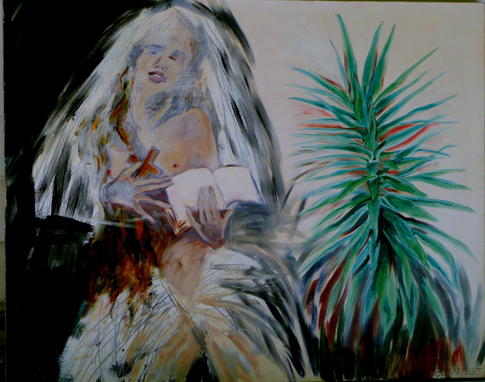 Telephone Madonna Bride with Yucca, 60 x 48 inches, 1985, Cheryl Petty