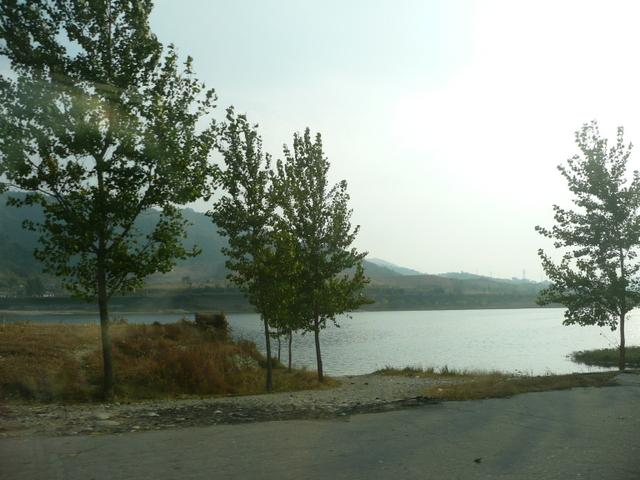 Sky, water, trees