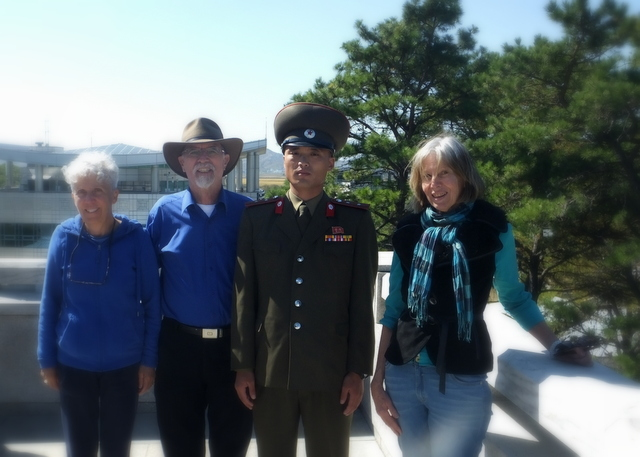 Quiet morning at the DMZ with the Trans Pacific Friendship Group, photo by D E