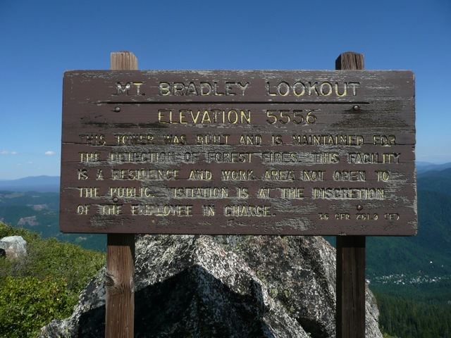 Mt. Bradley Lookout