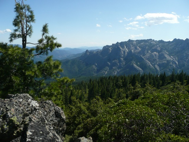 Looking south at the Dome at Castle Crags