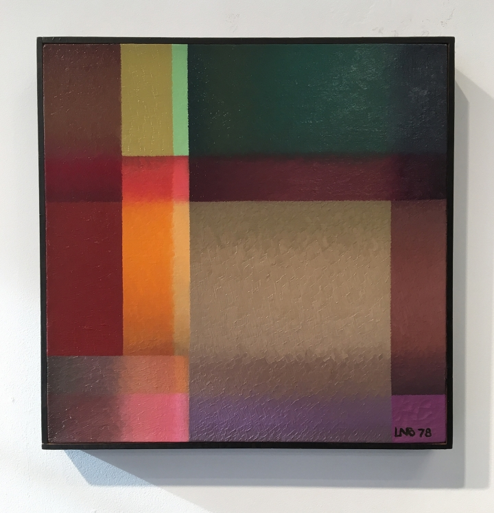 "Lula Blocton, ""Untitled"" (1978), oil on linen, 16 x 16 inches"