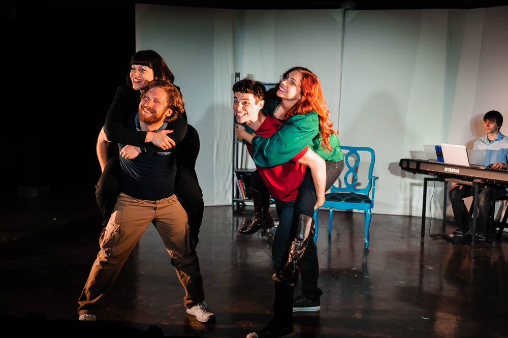 L to R: Deya Ozburn (Susan), Zach Sanders (Hunter), Joel Domenico (Jeff), Amanda Norman (Heidi), and Gregory Smith (Larry).