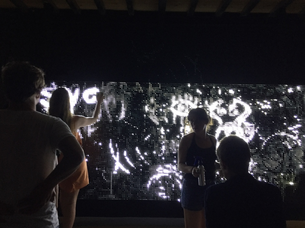 Making art at the Fabrica de Arte Cubano--an old power plant converted into a visual and performing arts haven