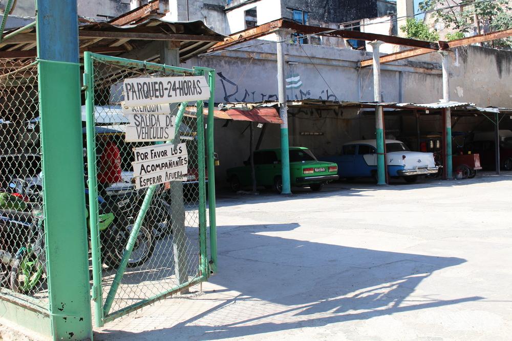 Parking lot in old Havana