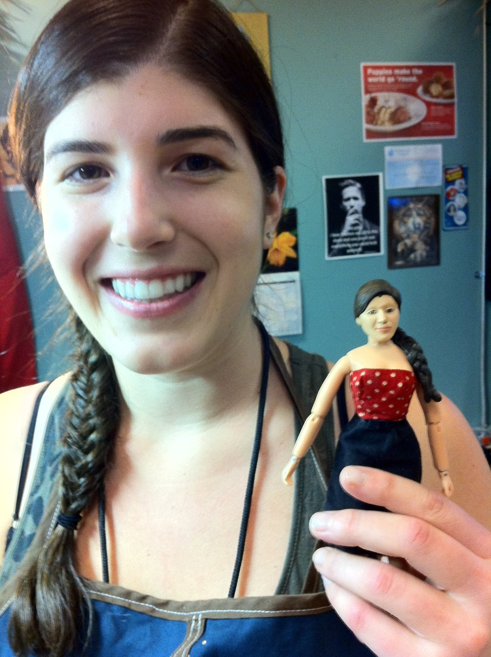 Me and my  Robot Chicken  puppet doppelgänger circa 2012