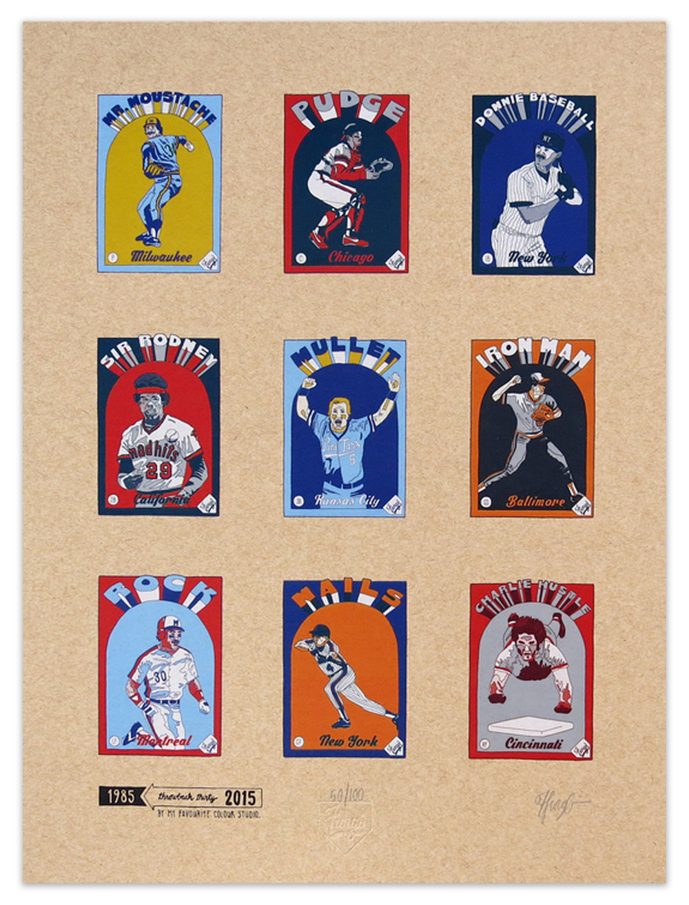 Fungo 1985 Starting Lineup Print