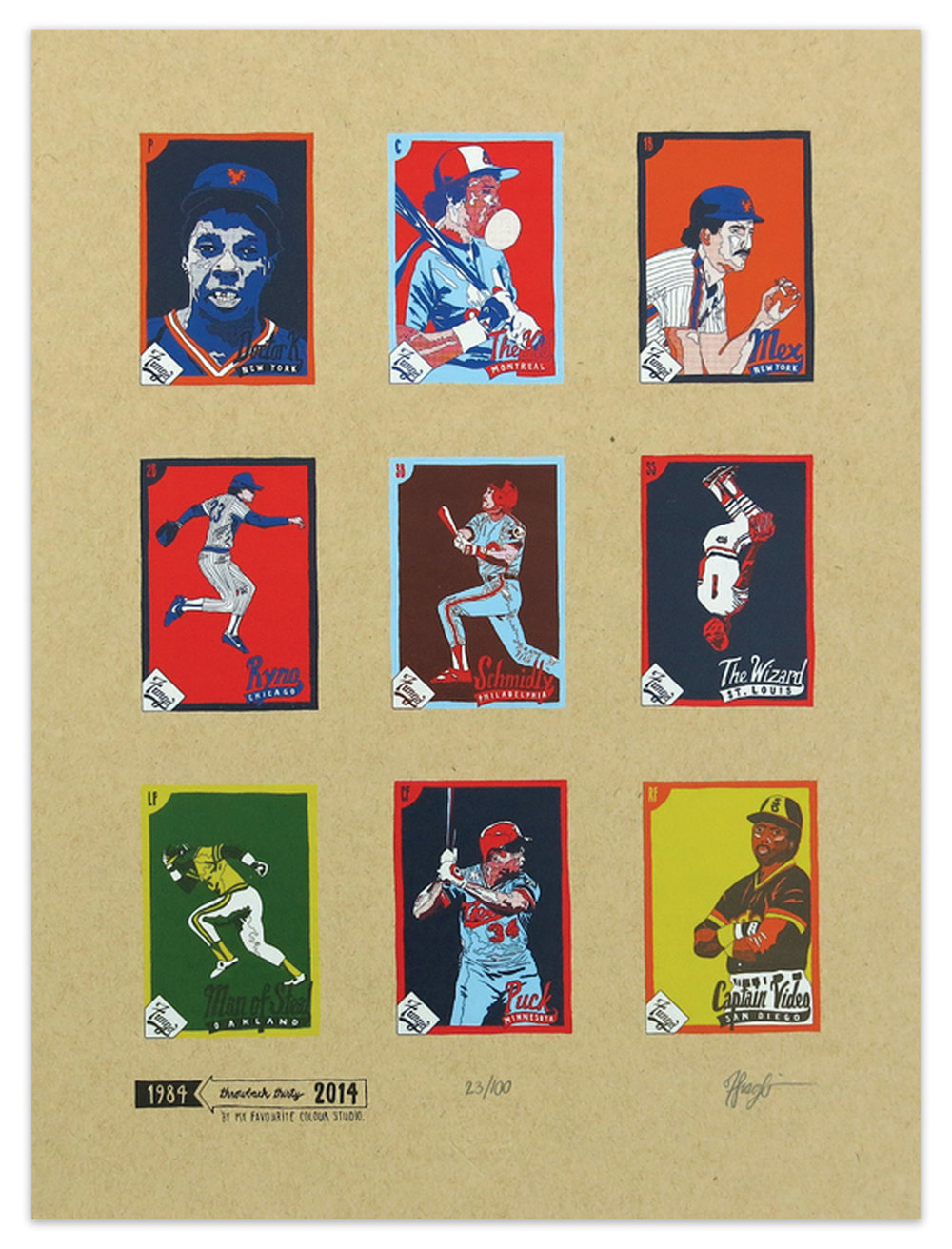 Fungo 1984 Starting Lineup Print