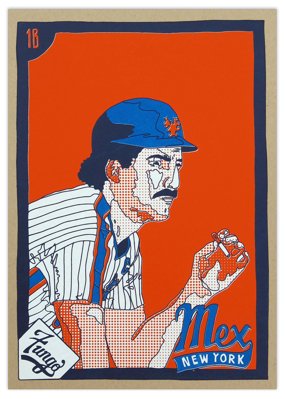 Smokin' In The Dugout: 1984 Mex Screenprint  🔴 SOLD OUT