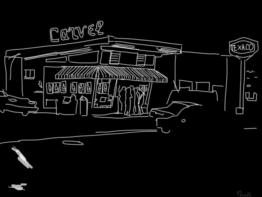 Carvel | Port Washington Boulevard | Digital Drawing