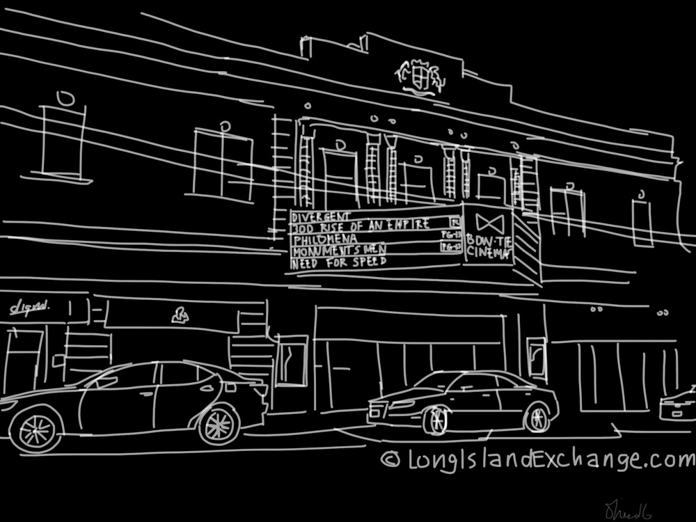 Beacon Theater | Main Street | Digital Drawing