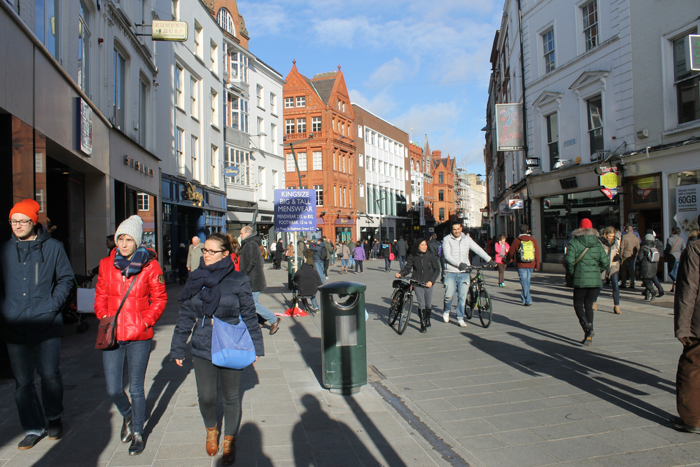 The people-watching opportunities along Grafton Street,north of Saint Stephen's Green, are endless.