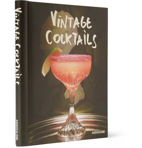 Assouline Vintage Cocktails Hard Cover Book
