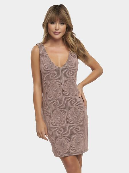 Tart Collection Rebecca Dress.. - Put your best look forward in the Rebecca Dress, shaped from our stunning rose gold metallic diamonds fabric.