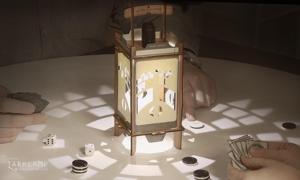 The Lumo Amuzo Larklamp - A Magic Lantern Game System