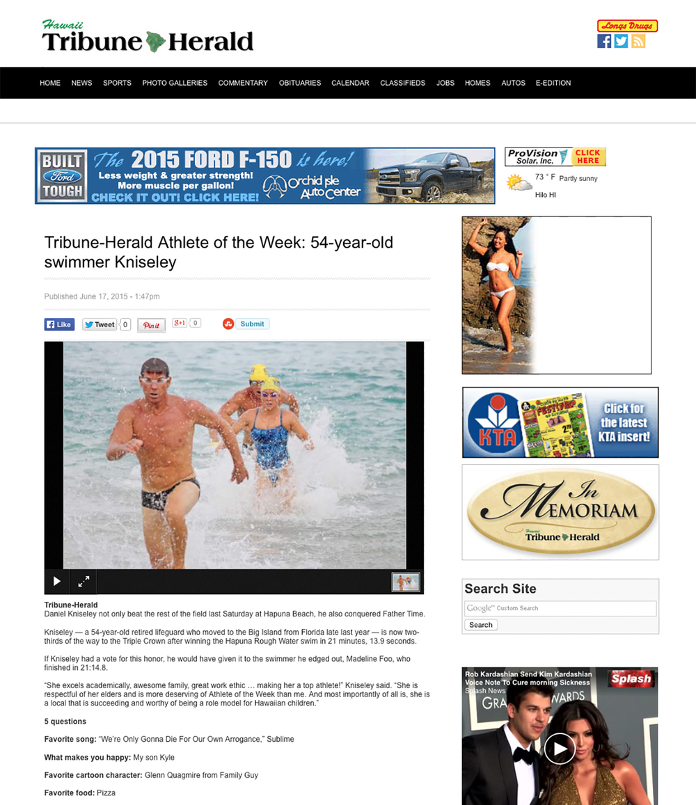 Aquatics swimmers in the news.