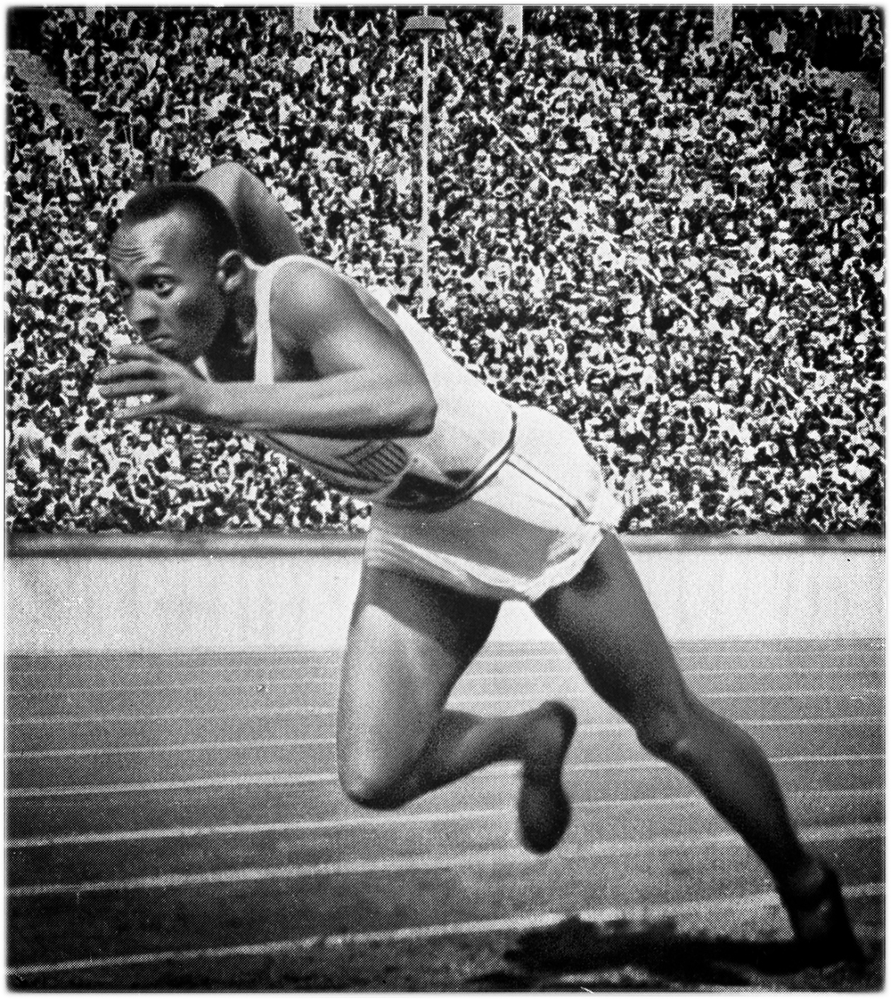 Jesse Owens at the 1936 Olympics.