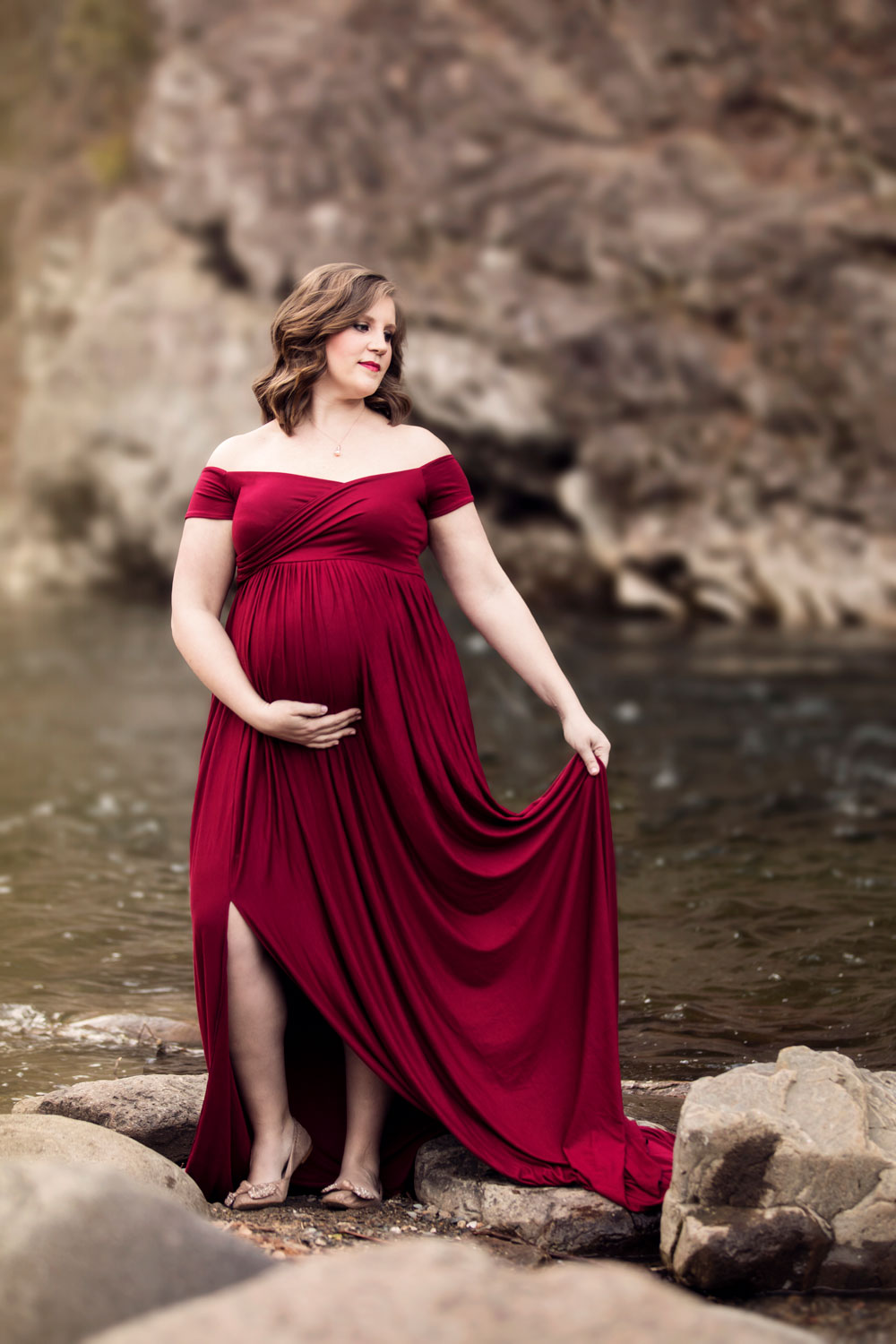 Pigeon-Forge-Photographer-Knoxville-red-maternity-gown.jpg