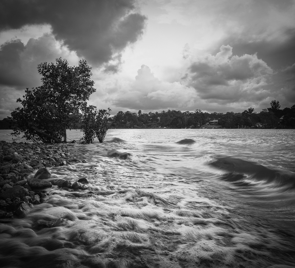 Black and White version - Coomera River near sea Eagle Lagoon. HDR Sigma Foveon, DP1
