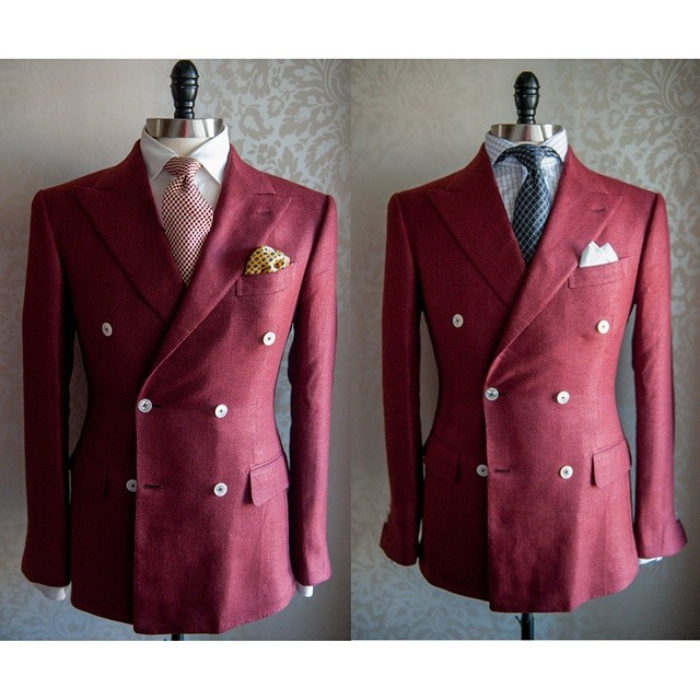 Bespoke double breasted blazer.  The red will go great for Chinese New Year and taking your date out for Valentine's day.
