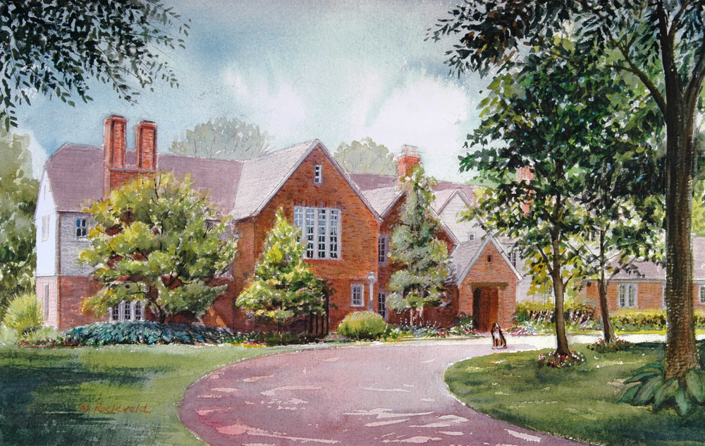 Watercolor of home on Litzsinger Rd, Brentwood, MO
