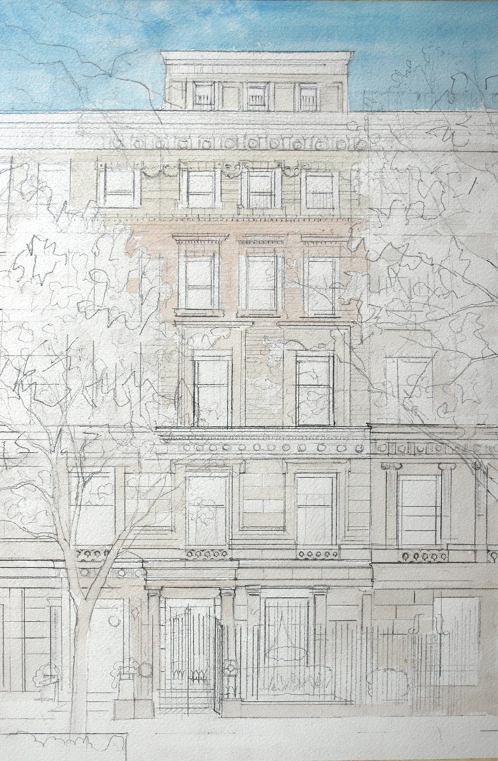 Watercolor NYC Townhouse