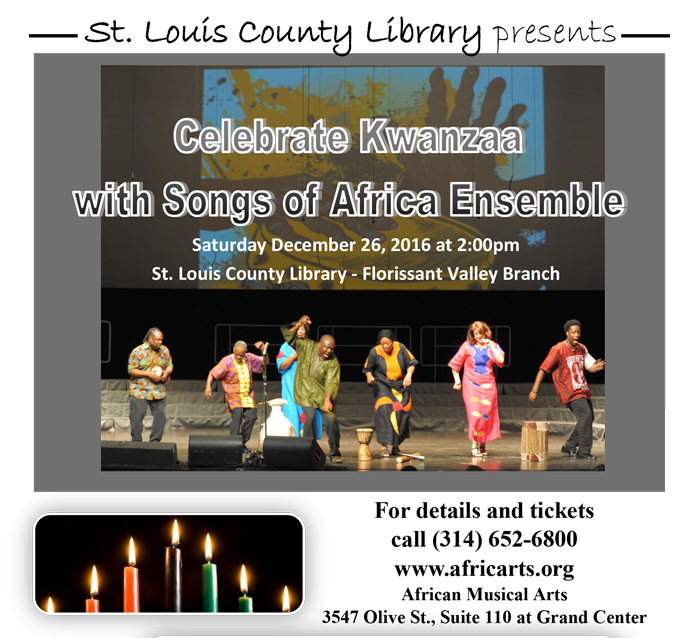 Venue: St. Louis County Library (Florissant Valley Branch) Saturday December 26, 2015, 2:00PM