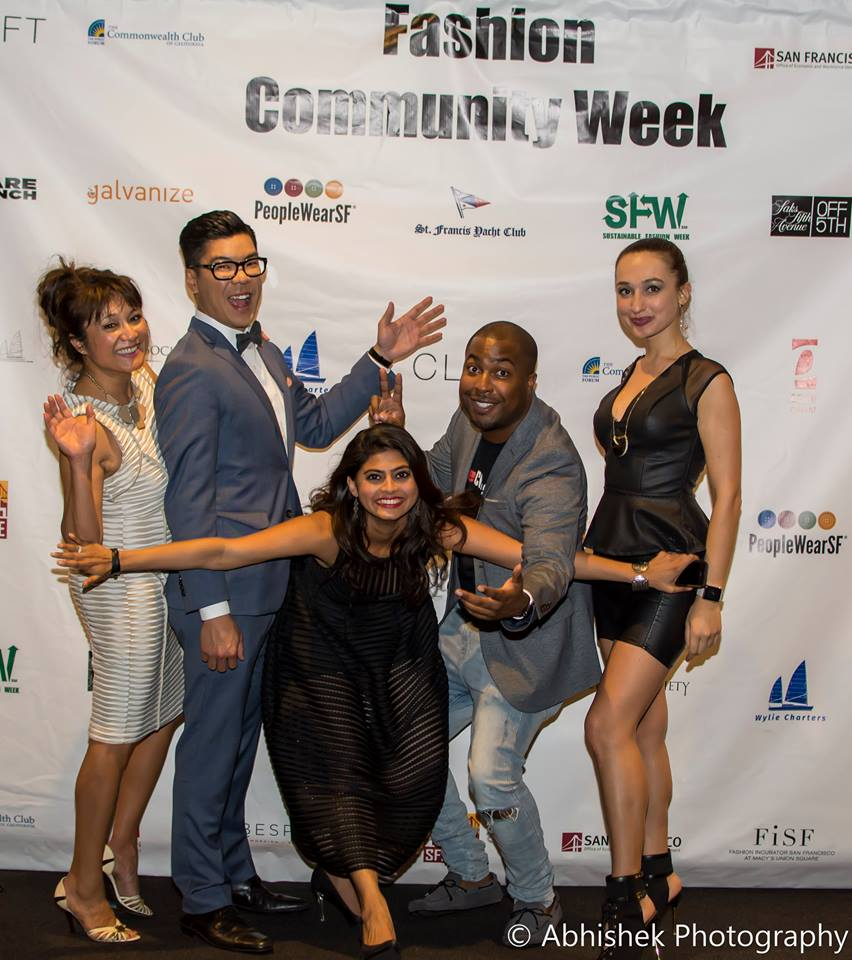 Shirin and her team celebrating the lastof SF Community Fashion Week 2015.