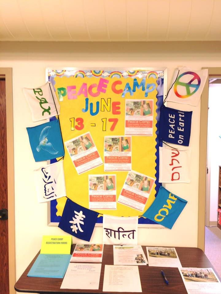 RE Summer Camp bulletin board