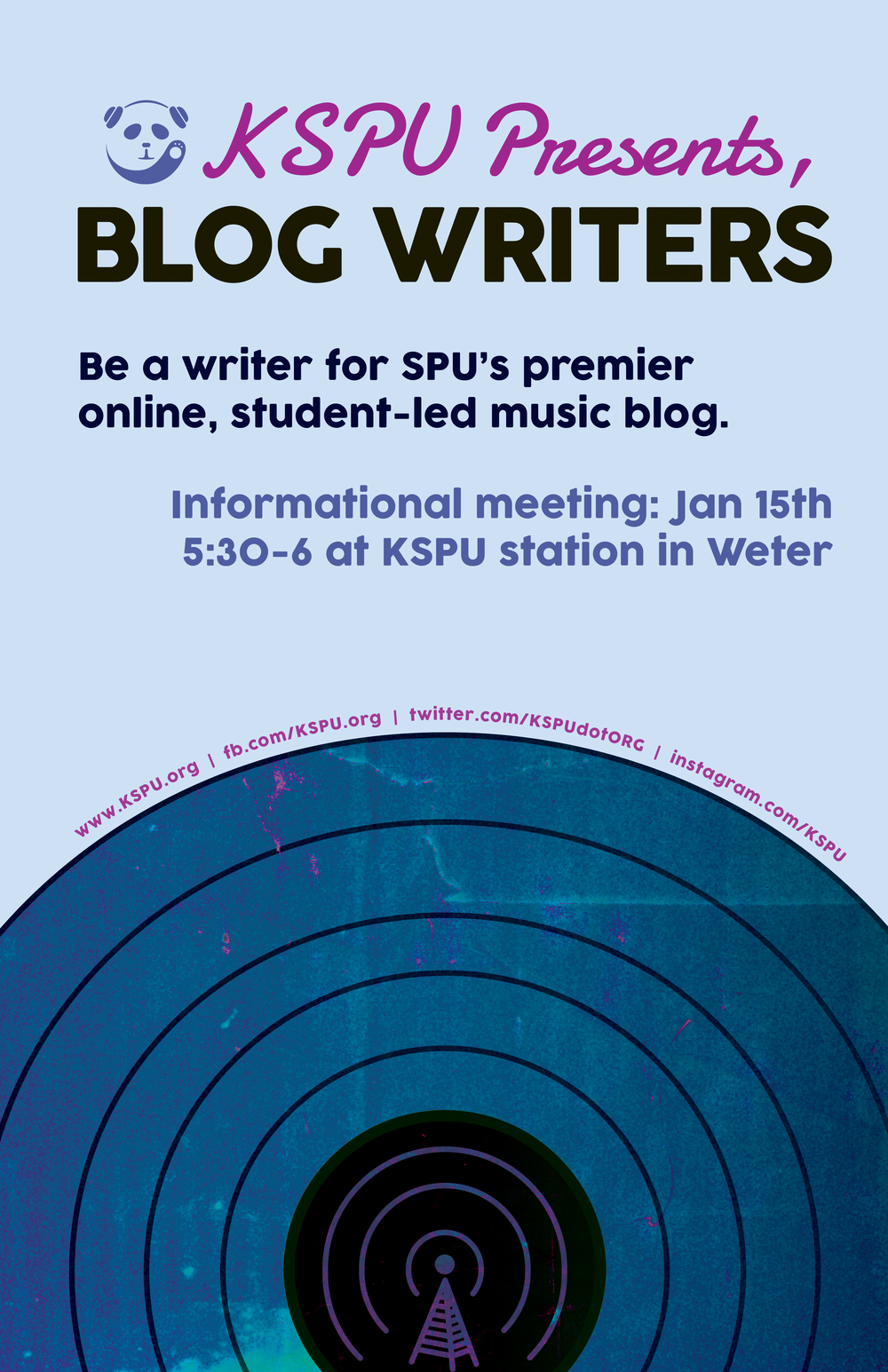 KSPU DJ signups winter quarter 15