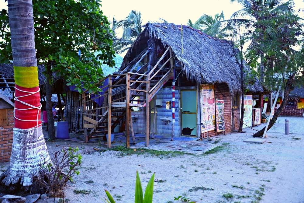 Colorful shacks everywhere, where you can get delicious food...