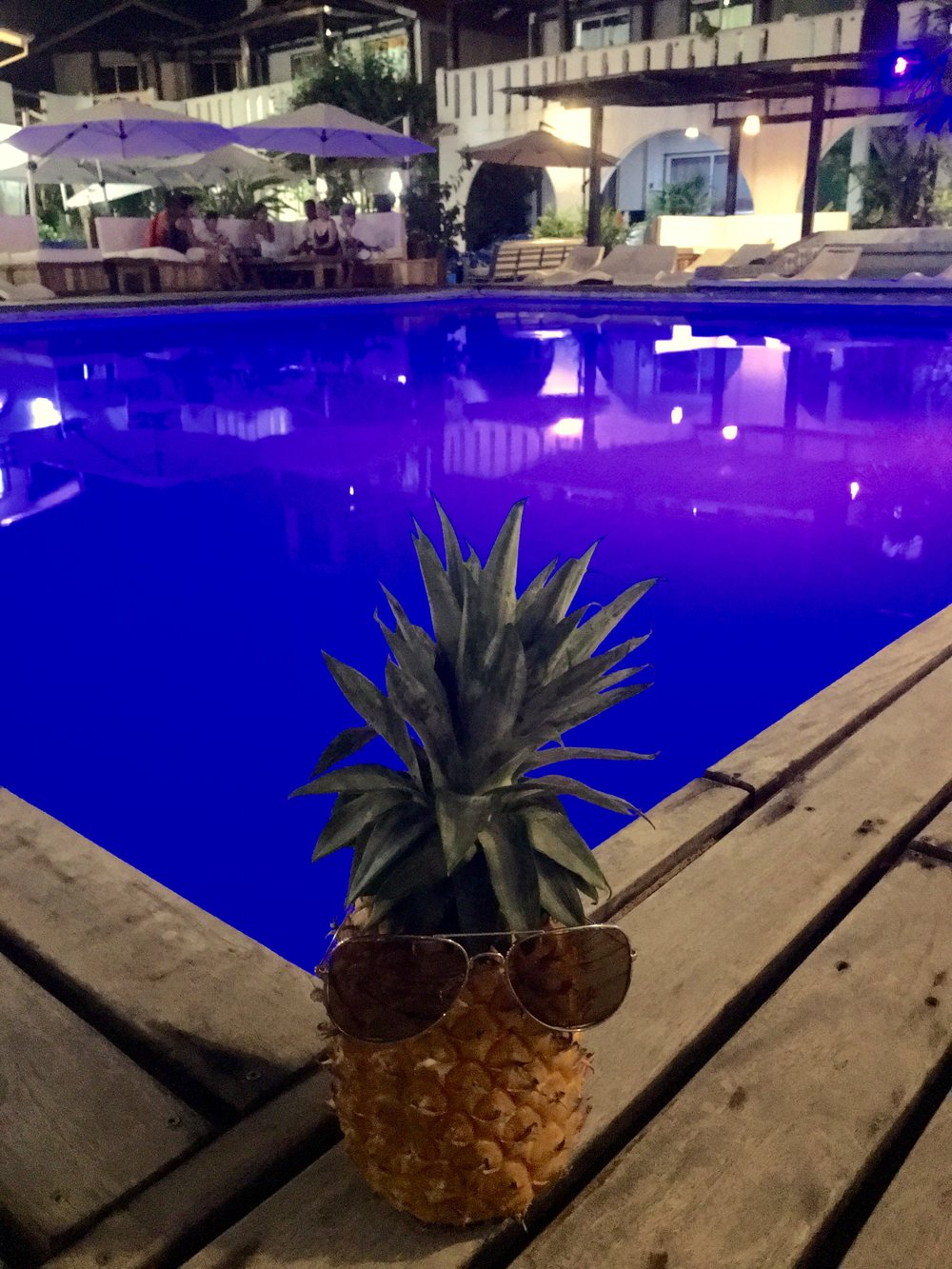 The pool at the hotel is the best! specially at night since it changes colors!