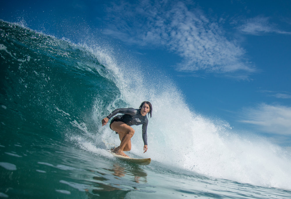 It was first summer at Puerto Escondido for Mada but she got comfortable right away.