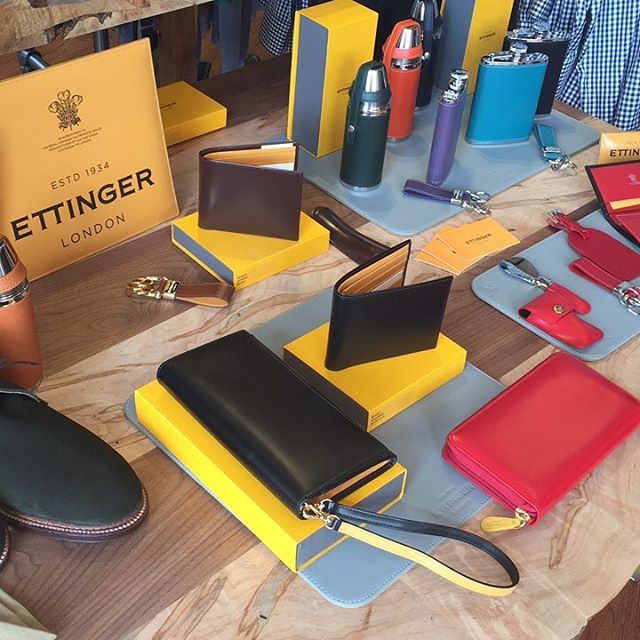 Ettinger trunk show today. Beautiful bridle hide leather goods last a lifetime and make excellent gifts.