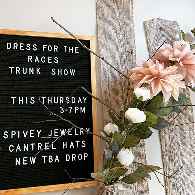 T R U N K  S H O W . . . #spiveycufflinks #cantrelcouture #tbaspain #madeinusa #madeinspain #dressfortheraces #trunkshow #food #drinks #highcliffeclothiers #middleburg #virginia