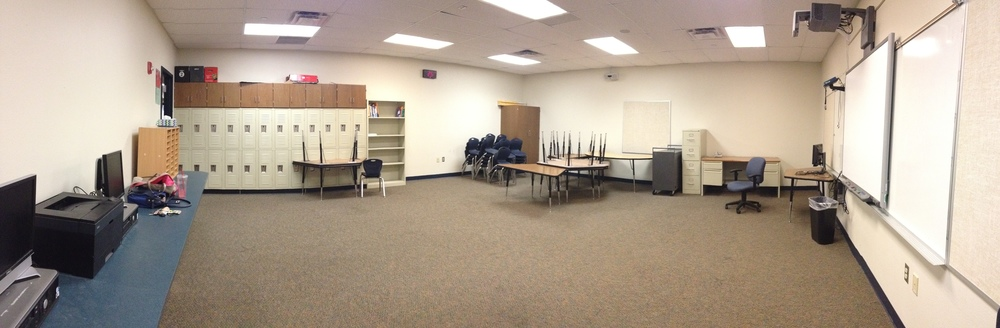 My first, very empty, new classroom.