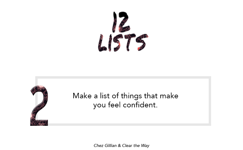 12 lists things that make you feel confident