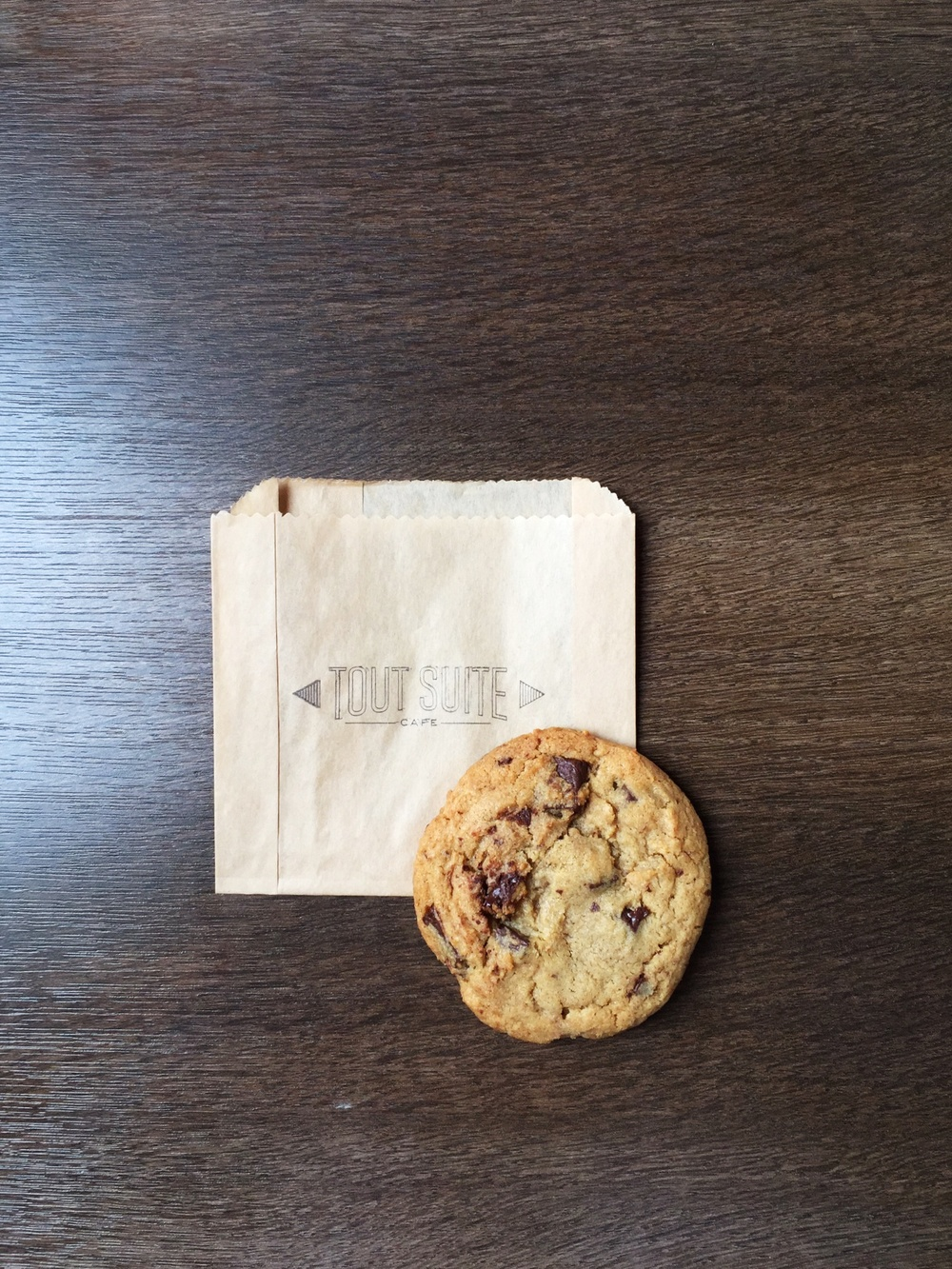 Tout Suite Cafe Houston chocolate chip cookie