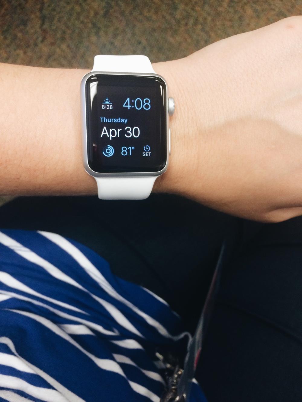 wearing the Apple Watch Sport
