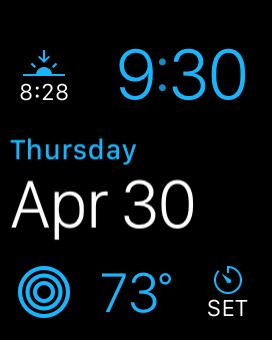 Apple Watch modular face